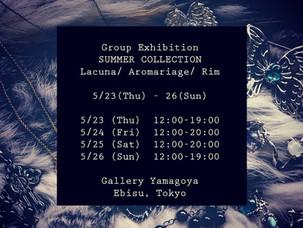 Exhibition info◆展示会在廊予定と閉店時間変更