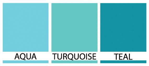 aqua-turquoise-teal colors
