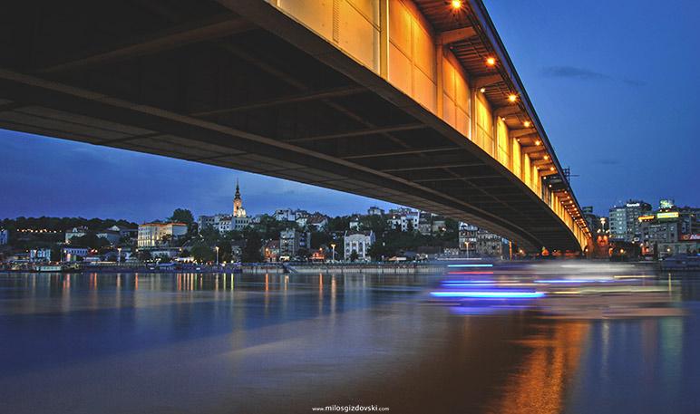 Blue-hour-photography-Beograd-Brankov-most