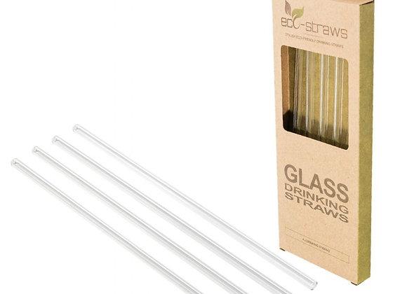 Glas sugerør + børste 21,5 cm