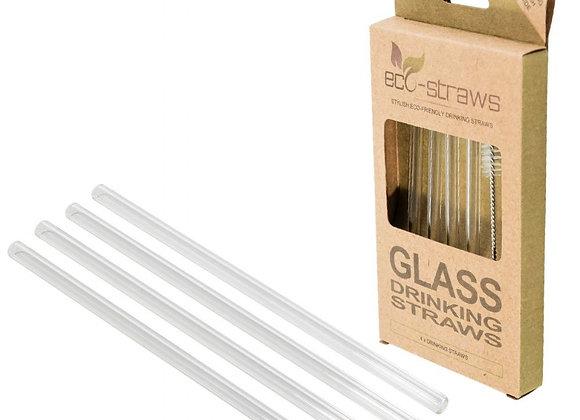 Glas sugerør + børste- 14,5 cm