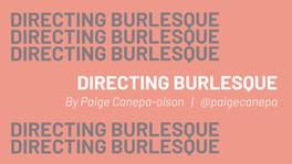DIRECTING BURLESQUE