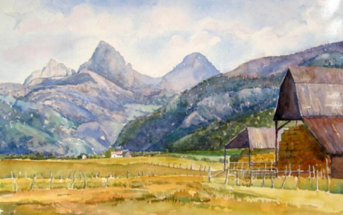 Idaho Tetons Hay Stack