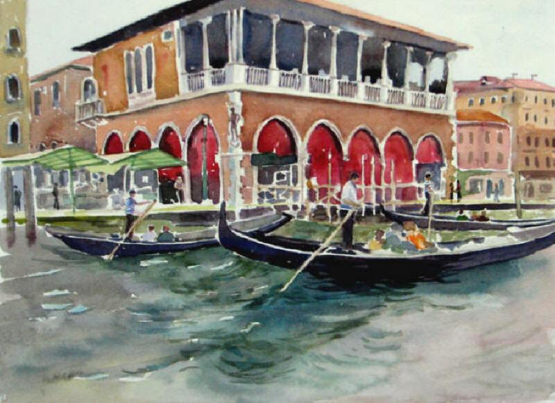 Gondolas_Venice11x15WC