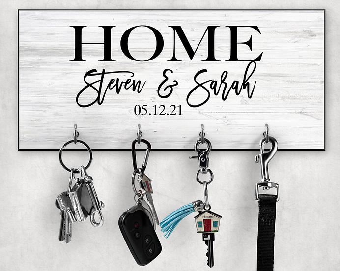 home key hanger personalized