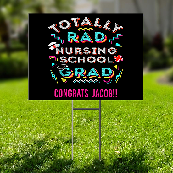 NURSING GRAD LAWN SIGN - PERSONALIZED