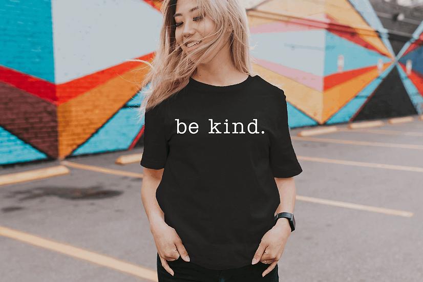 black tshirt be kind