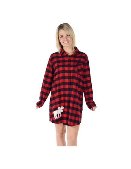 Flannel Plaid Nightshirt