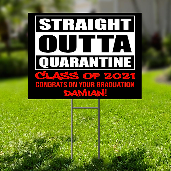 GRAD LAWN SIGN - PERSONALIZED