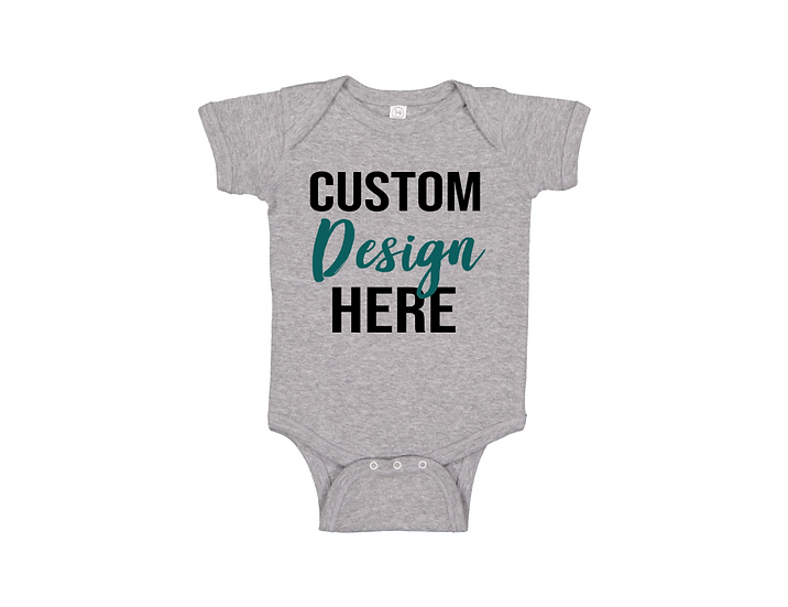 custom design baby onesie
