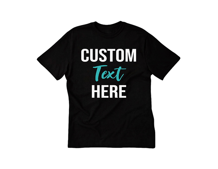 Custom tshirt personalized youth and adult