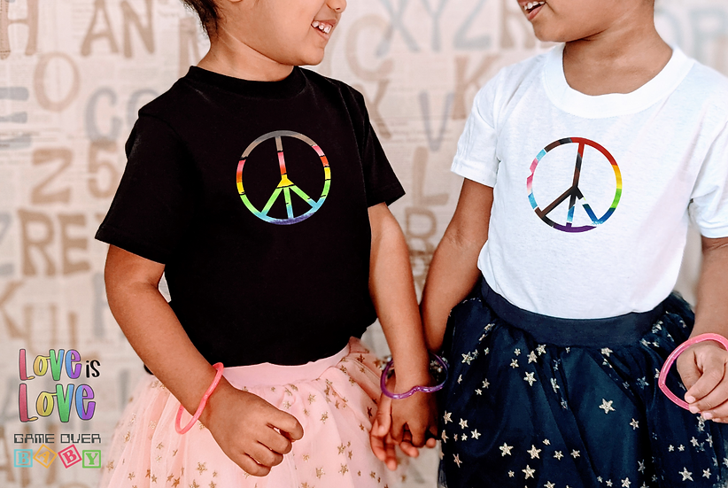 RAINBOW PEACE TODDLER OR YOUTH TEE