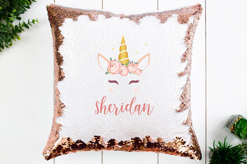 SEQUIN PILLOW - PERSONALIZED