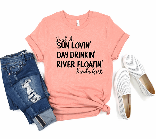 JUST A RIVER FLOATING GIRL TEE
