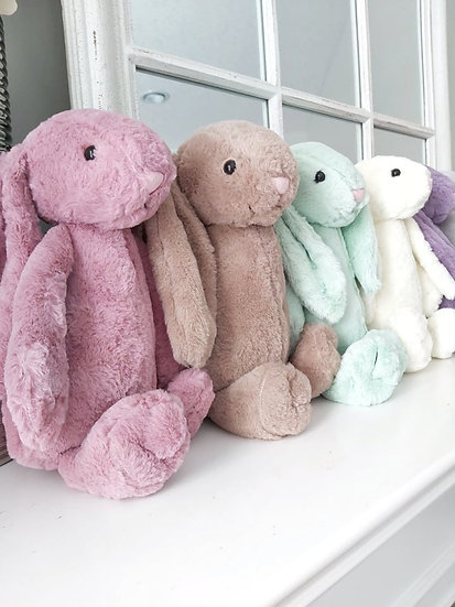 PERSONALIZED PLUSH BUNNIES