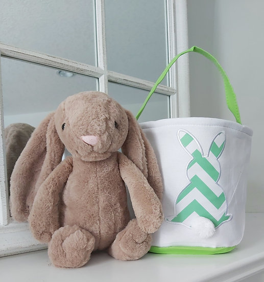PERSONALIZED EASTER BASKET/BUNNY COMBO