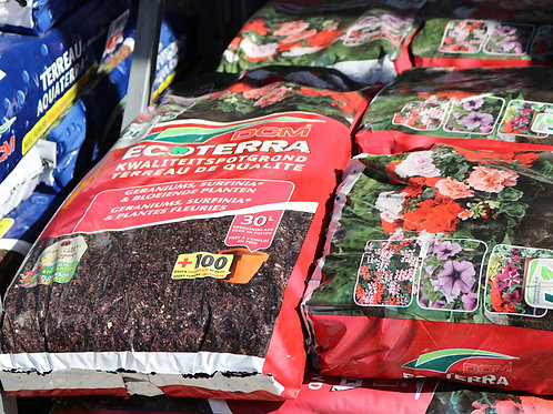 Ecoterra geraniums, surfinia et plantes fleuries 30L