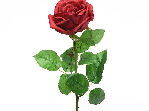 Rose en soie sur tige XL