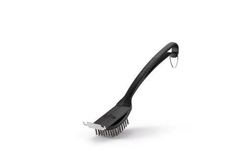 Brosse poils inox avec grattoir