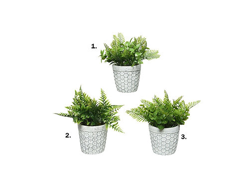 1 Plante plastique en pot céramique