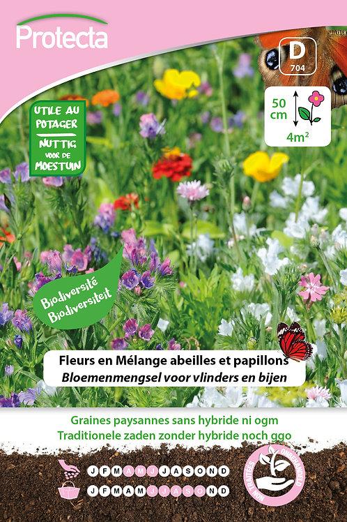 Protecta fleurs en mélange abeilles et papillons
