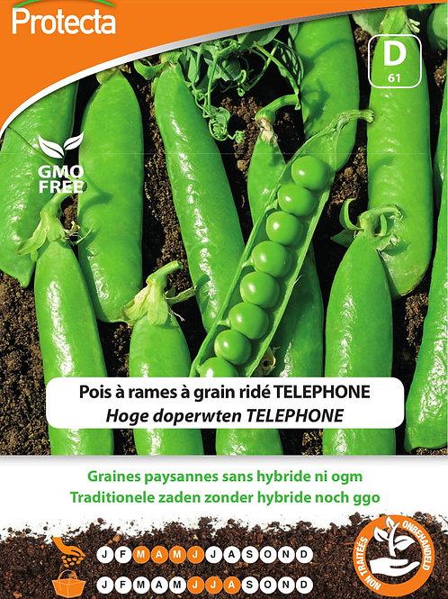 Protecta pois à rames à grain ridé Telephone