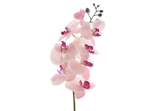 Orchidée en soie sur tige (rose doux)