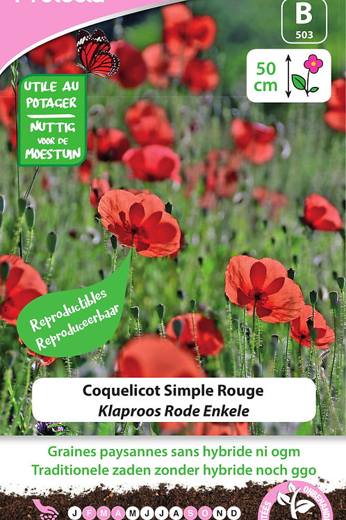 Protecta Coquelicot Simple rouge