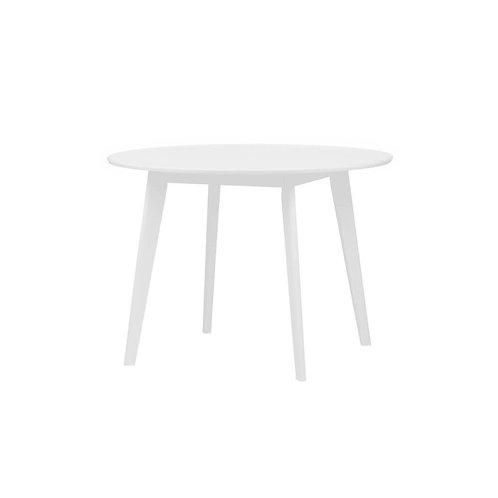 Mesa de comedor redonda Mika color blanco en Big Bang