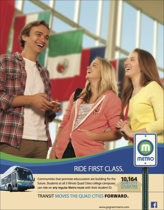 Metro Ad highlighting advantages to local education