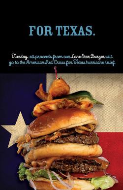 Lone Star Burger Ad / Poster