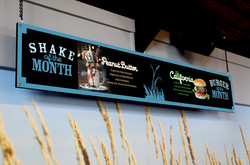 Shake and Burger of the Month Sign