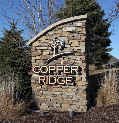 Copper Ridge Sign