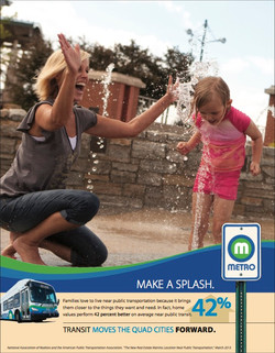 Metro Ad highlighting transit affect on local home values