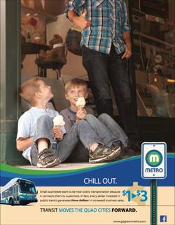 Metro Ad highlighting access to local fun spots