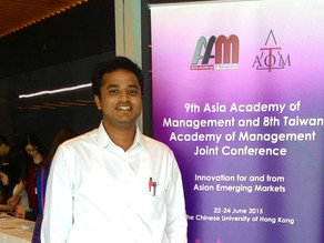 RAMA PRESENTS AT THE ASIAN ACADEMY OF MANAGEMENT (AOM) CONFERENCE IN HONG KONG