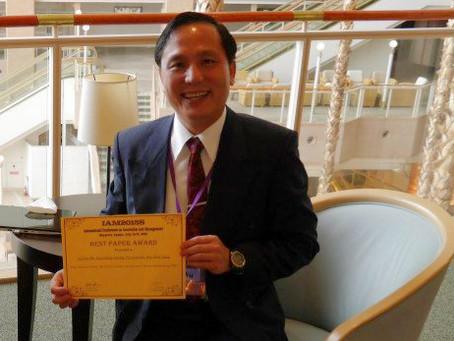 BEST PAPER AWARD: CONGRATULATIONS LI FAN WU (DANIEL)