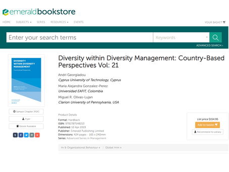 JENNET PUBLISHES BOOK CHAPTER!