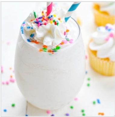 Cake Batter Protein Milk Shake