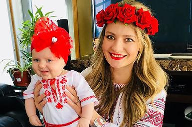 Ukrainian Girl - kid in embroidered shirt