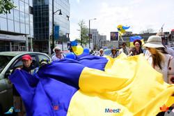 Huge Ukrainian Flag in Toronto