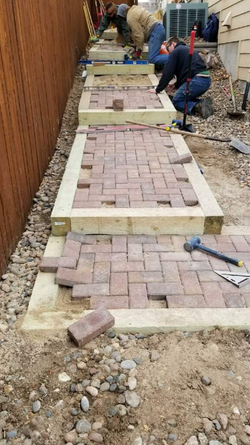 Paver Pathway with steps