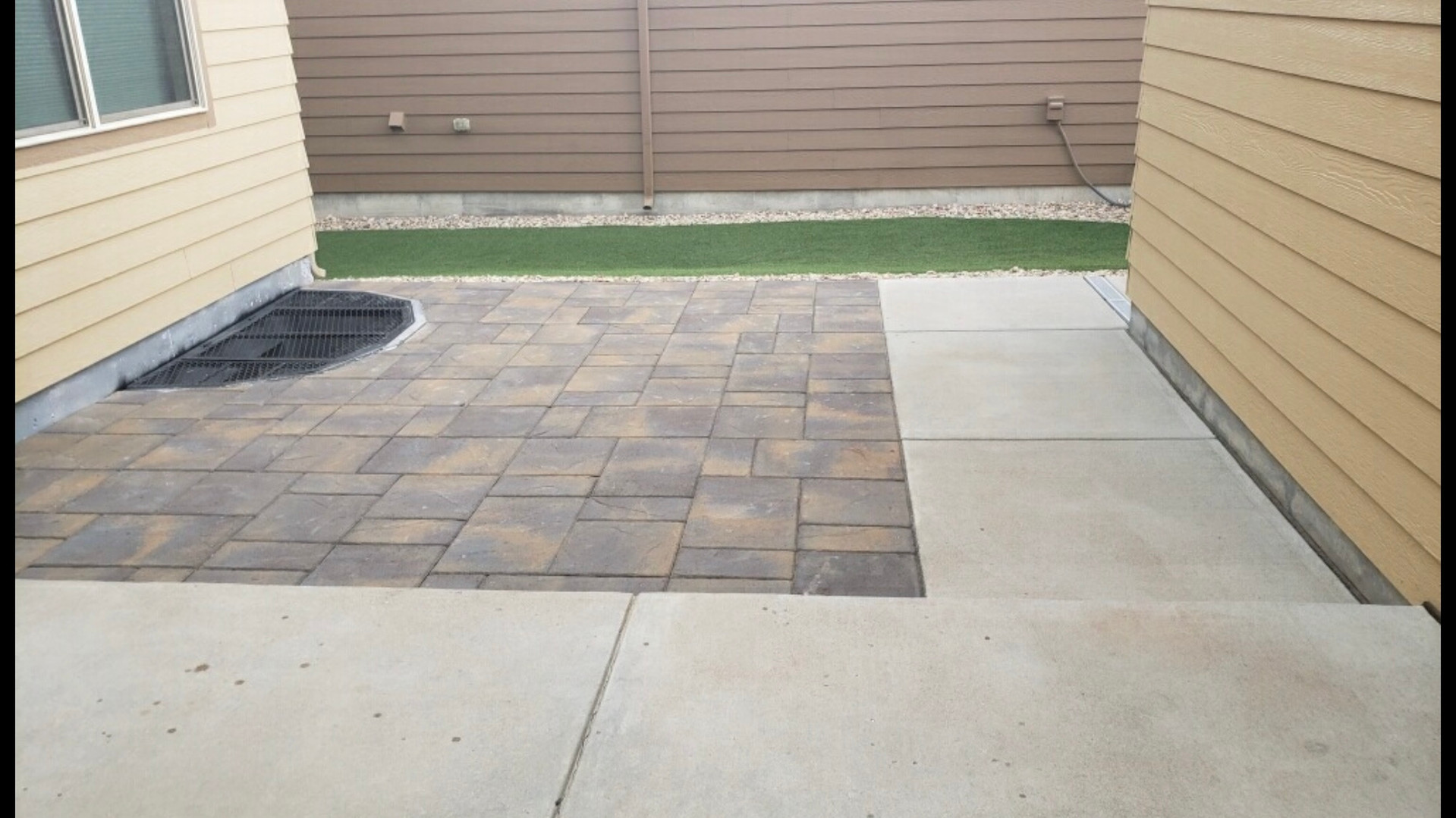 Paver Patio with a touch of artificial t