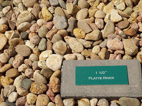 """Platte River Rock 1.5"""", or 3/4"""""""