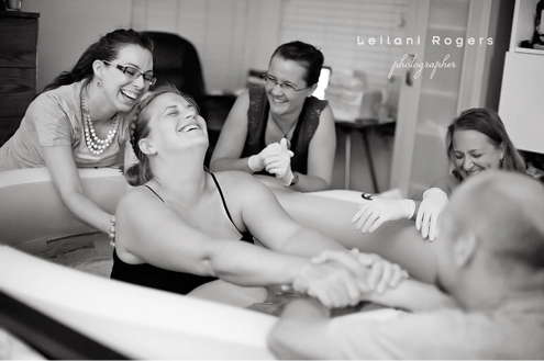The Joy of Birth, Photo by Leilani Rogers, Midwife Laurie Fremgen