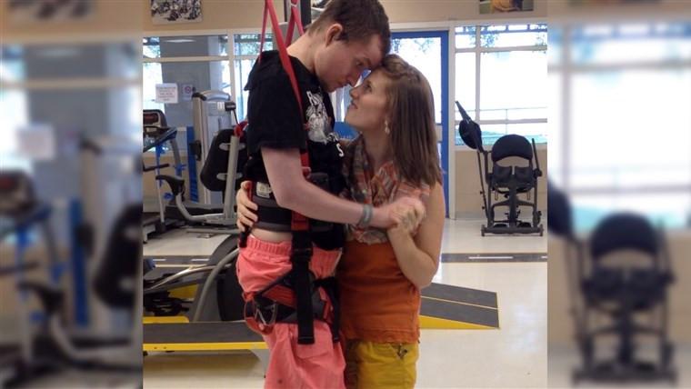 Joel and Lauren Jackson, Joel Jackson, Lauren Jackson, Zero G, Brooks Rehab, Quadriplegic, physical therapy