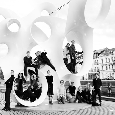Malmö Live Vokalensemble outside Malmö Live, 2015. Photographer Christiaan Dirksen