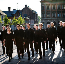 With Svanholm Singers, Lund, Sweden, May 2014. Photographer Emil Langvad