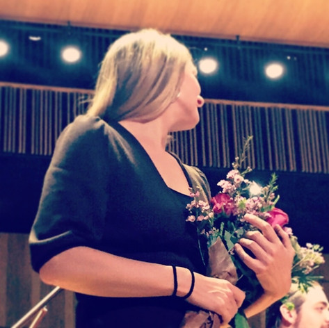 """Malmö Live Concert Hall, premiere of my works """"Meeting I & II"""" with Malmö Symphony Orchestra and a big Youth Choir, October 2015"""