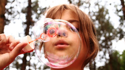 bubble blowing/ self regulating excercises